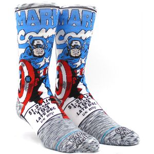 Meia-Stance-Captain-America-Comic-Grey