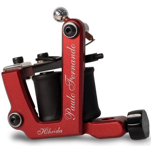 Maquina-de-Tatuagem-Percy-Waters-Hibrida-Aluminio-Vermelha