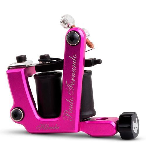 Maquina-de-Tatuagem-Percy-Waters-Hibrida-Aluminio-Rosa