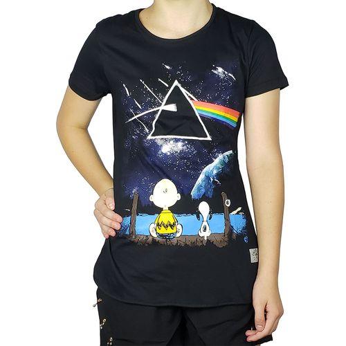 Camiseta-Babylook-Snoopy-e-Charlie-Brown-Preta-