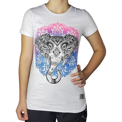 Camiseta-Babylook-Indian-Elephant-Branca-