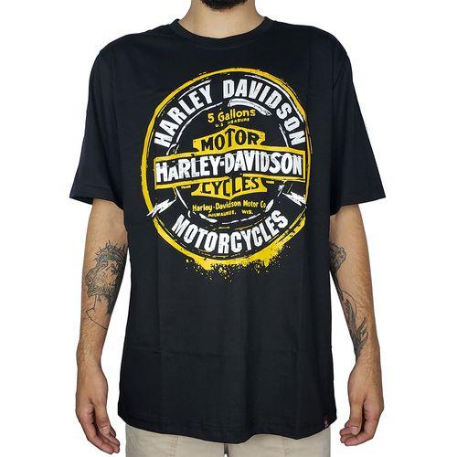 Camiseta-Harley-Davidson-Motorcycles-Preta-