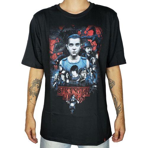 Camiseta-Eleven-Stranger-Things-Preta-