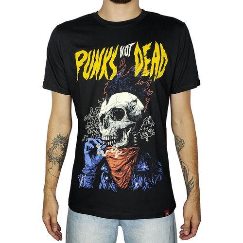 Camiseta-Punks-Not-Dead-Preta-