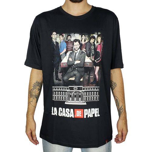 Camiseta-La-Casa-de-Papel-Personagens-Preta-
