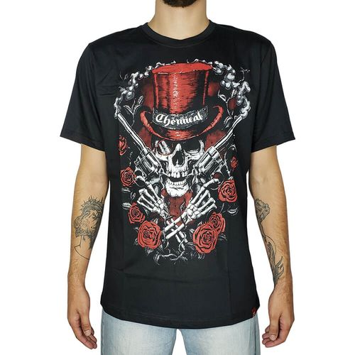 Camiseta-Revolver-Skull-Preta-