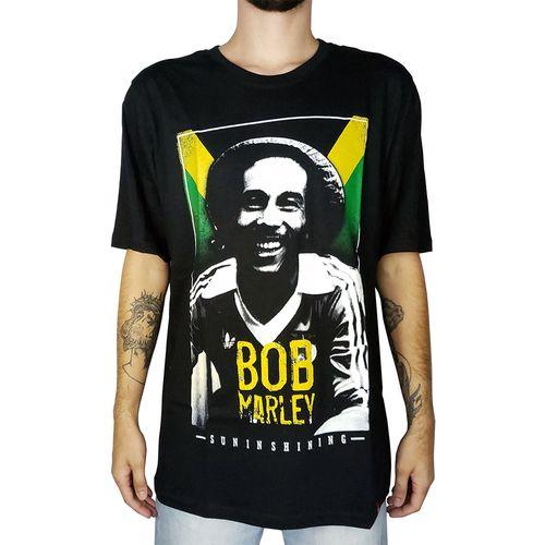 Camiseta-Bob-Marley-Suninshining-Preta-