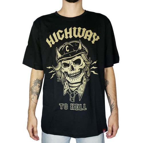 Camiseta-Caveira-Highway-To-Hell-Preta-