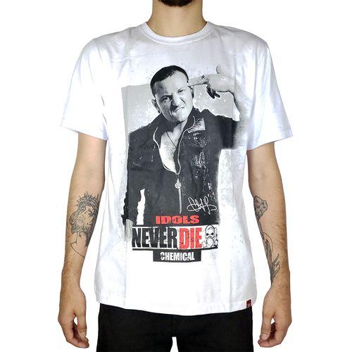 Camiseta-Chester-Bennington-Idols-Never-Die-Branca-
