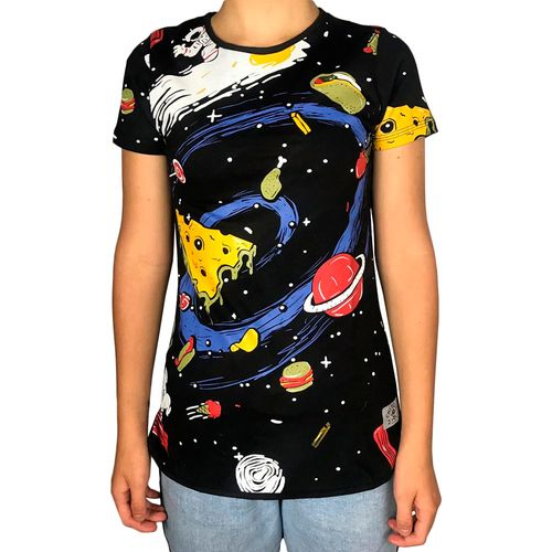 Camiseta-Babylook-Space-Food-Preta