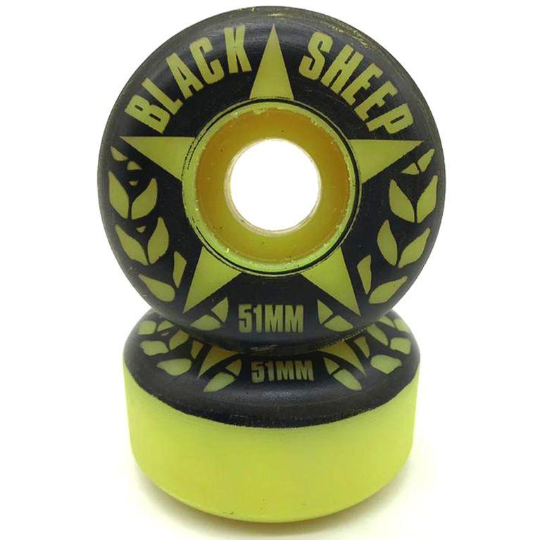 Roda Black Sheep 51mm Amarela - galleryrock 8e5606d8496