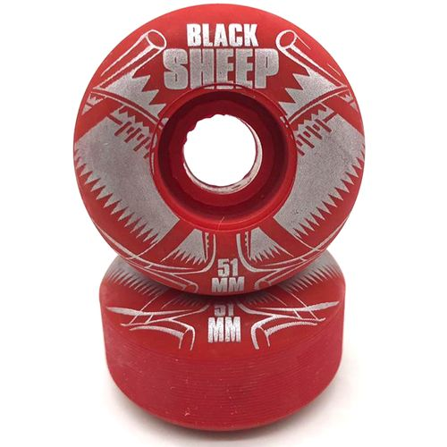 Roda-Black-Sheep-51mm-Vermelha