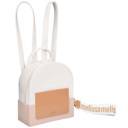 Bolsa-Melissa-Essential-Back-Pack-Branco-Bege