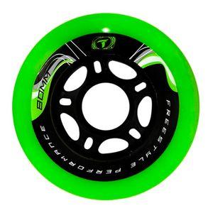 Roda-para-Patins-Freestyle-Traxart-Krazyleg-80mm---Verde