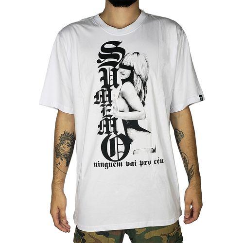 Camiseta-Sumemo-Original-Mulher-Ninguem-Vai-Pro-Ceu-Branca