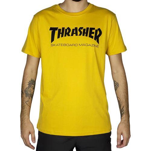 Camiseta-Thrasher-Skate-Magazine-Mostarda-