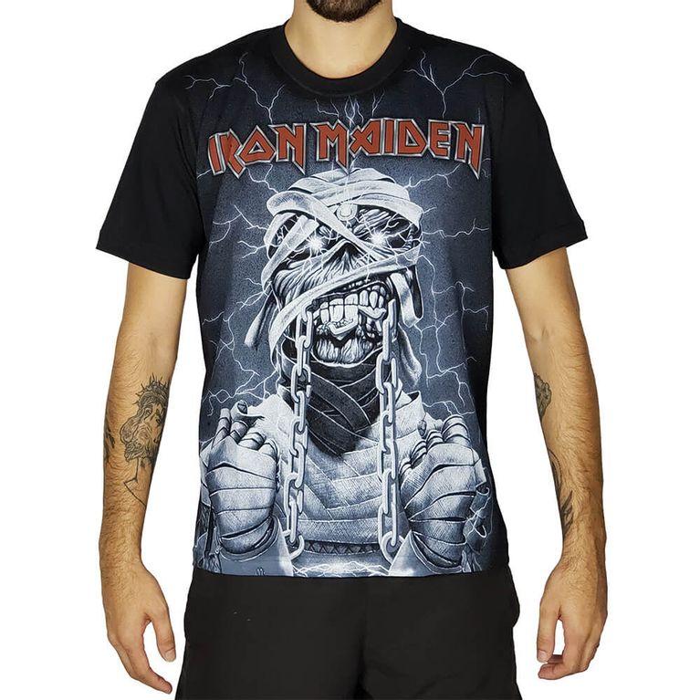 39e01d59ac Camiseta Premium Iron Maiden Powerslave PRE045 S - galleryrock