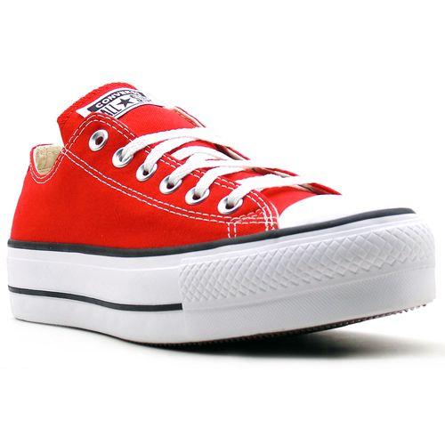 Tenis-All-Star-Chuck-Taylor-Lift-Plataforma-Cano-Baixo-Vermelho
