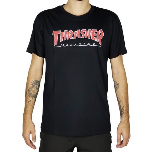 Camiseta-Thrasher-Outlined-Preto