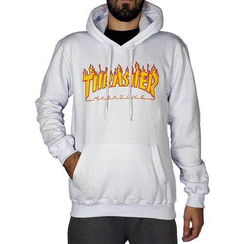 Blusa-de-Moletom-Thrasher-Capuz-Flame-Logo-Branco-
