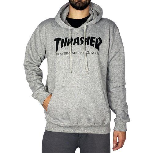Blusa-de-Moletom-Thrasher-Capuz-Skate-Cinza-