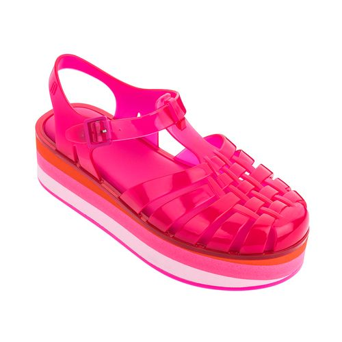 Melissa-Possession-Platform-Stripes---Rosa-Barbie-