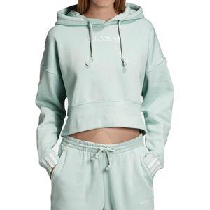 Blusa-Adidas-Capuz-Cropped-Coeeze-Hoddie---Verde-