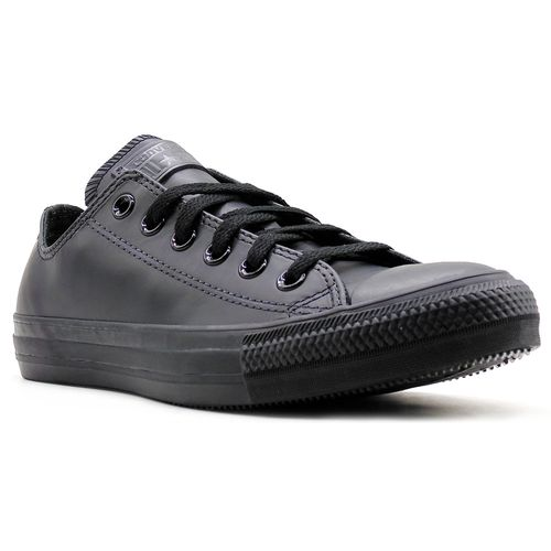 Tenis-All-Star-Monochrome-Leather-Ox-Preto-L92-