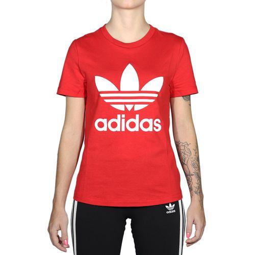 Camiseta-Adidas-Trefoil-Tee---Vermelho