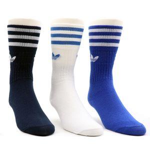 Meias-Adidas-Cano-Alto-Solid-3-Pares---Marinho-Branco-E-Azul-