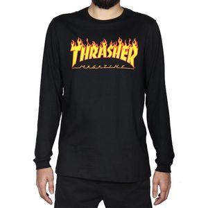 Camiseta-Manga-Longa-Thrasher-Flame-Long-Sleeve-Logo-Preta-