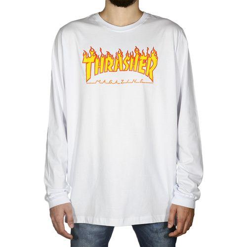 Camiseta-Manga-Longa-Thrasher-Flame-Long-Sleeve-Logo-Branca