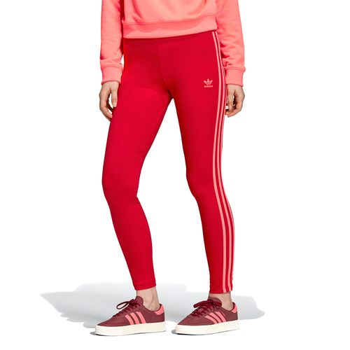 Calca-Adidas-Legging-3-Stripes---Vermelha-
