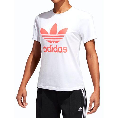 Camiseta-Adidas-Trefoil---Branco-Rosa