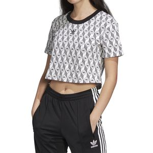 Camiseta-Adidas-Cropped---Preto-Branco