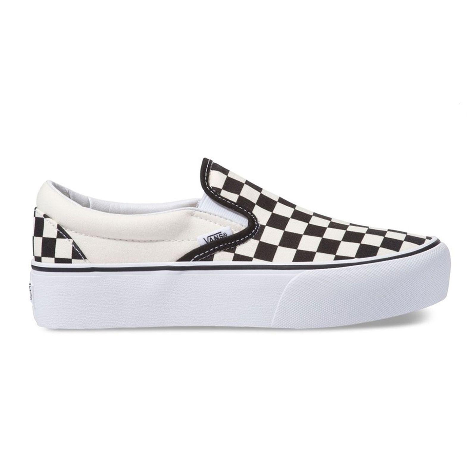 código preposición Inválido  Tênis Vans Classic Slip On Checkerboard Plataforma - Preto/Branco -  galleryrock