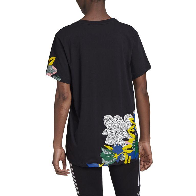 metálico Deudor Joseph Banks  Camiseta Adidas Originals Boyfriend - Preta - galleryrock
