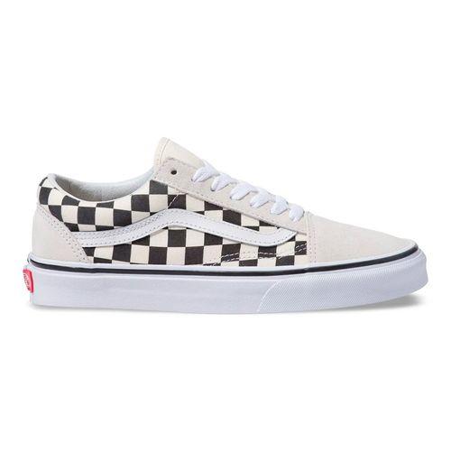 tenis-vans-old-skool-checkerboard-withe-black