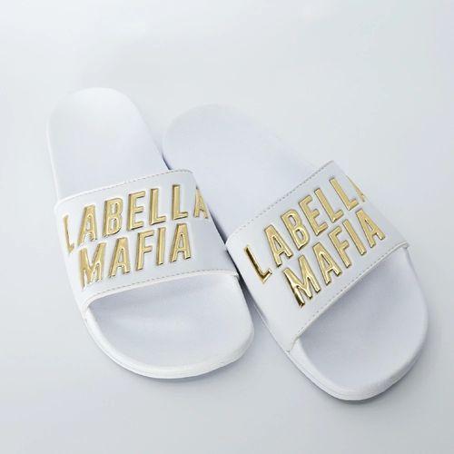 Chinelo-Labellamafia-Slide-Dourado