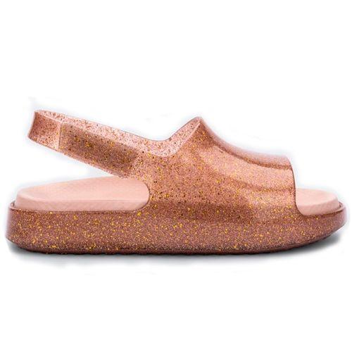 mini-melissa-cloud-sandal-rosa-transparente-glitter-lateral